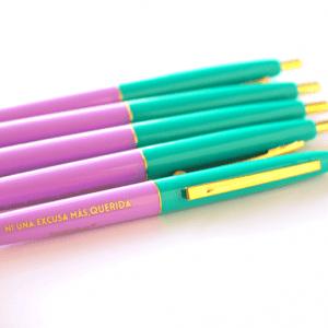 Bolígrafo ni una excusa más, querida