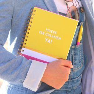 cuaderno con tapas duras mueve ese culamen ya