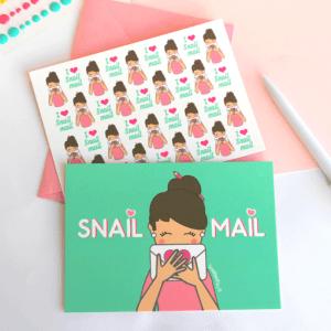 Set de postales snail mail