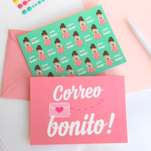 set de postales correo bonito