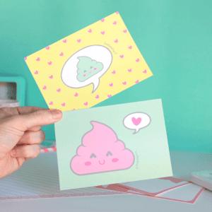 set de postales poo