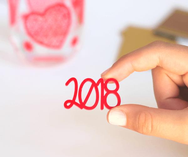 adorno acrílico para scrapbooking 2018