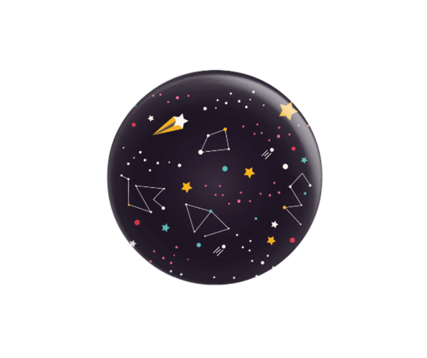 chapa con alfiler constelación