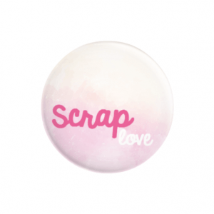 chapa con alfiler scrap love