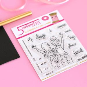 sellos acrílicos para scrapbooking amigas