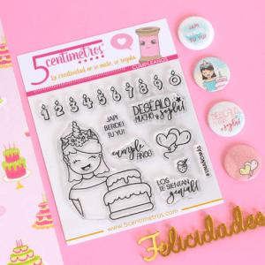 sellos acrílicos para scrapbooking cumpleaños