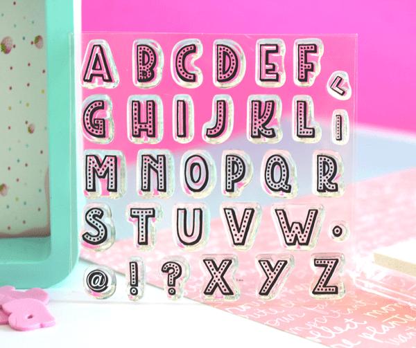 sellos acrílicos para scrapbooking letras