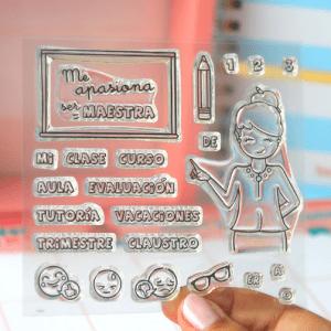 sellos acrílicos para scrapbooking maestra