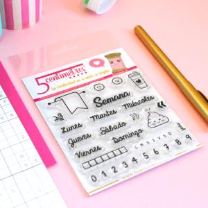 sellos acrílicos para scrapbooking semanalia