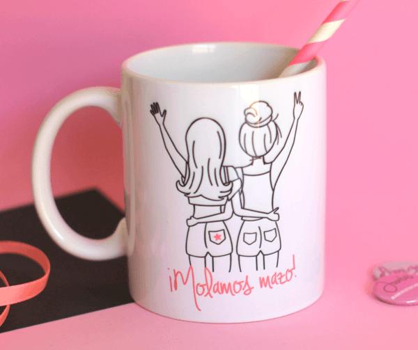 taza de desayuna amigas