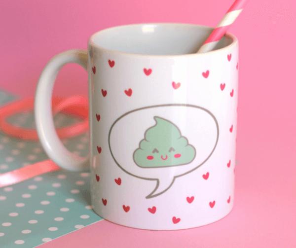 Taza de desayuno Caca feliz