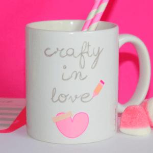 taza de desayuno crafty in love