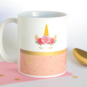Taza de desayuno unicornio