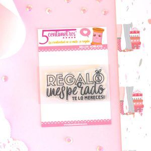 sello acrílico para scrapbooking regalo