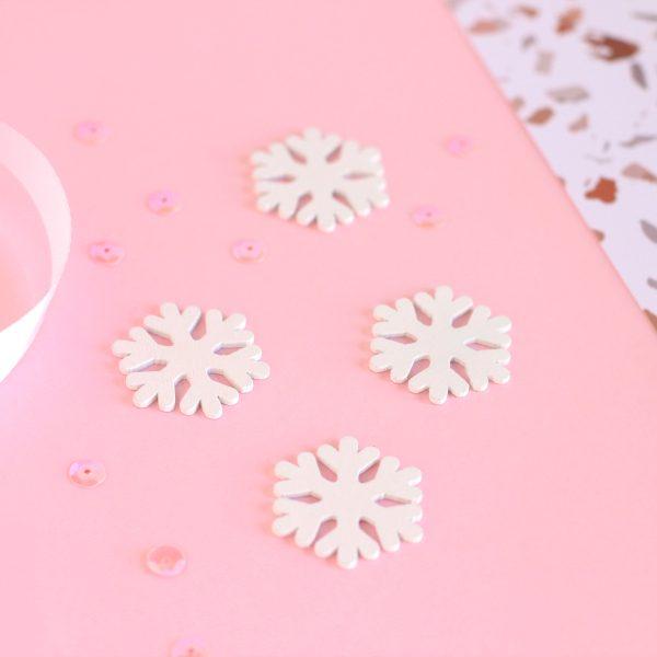 set de maderitas copos de nieve