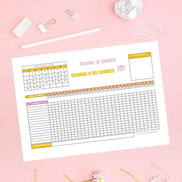 planificador mensual para imprimir gratis