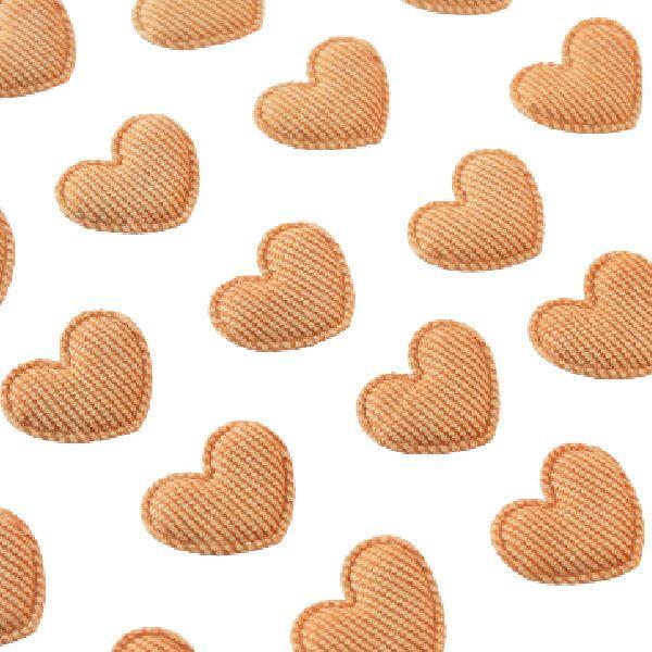 adornos corazones tela