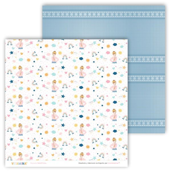 kit de papeles scrapbooking vitamina