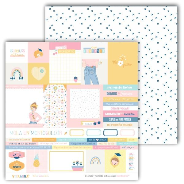 kit de papeles scrapbooking vitamina 10
