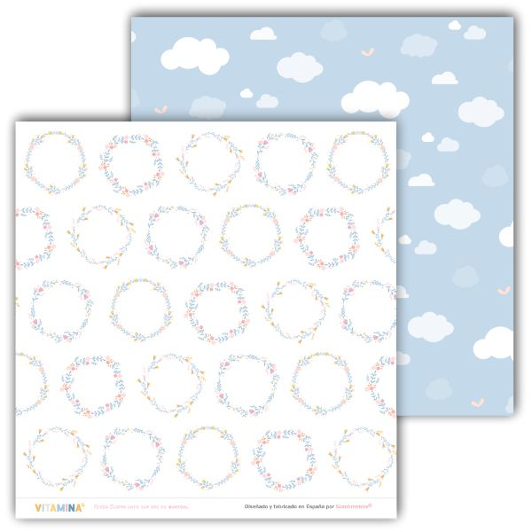 kit de papeles scrapbooking vitamina 4