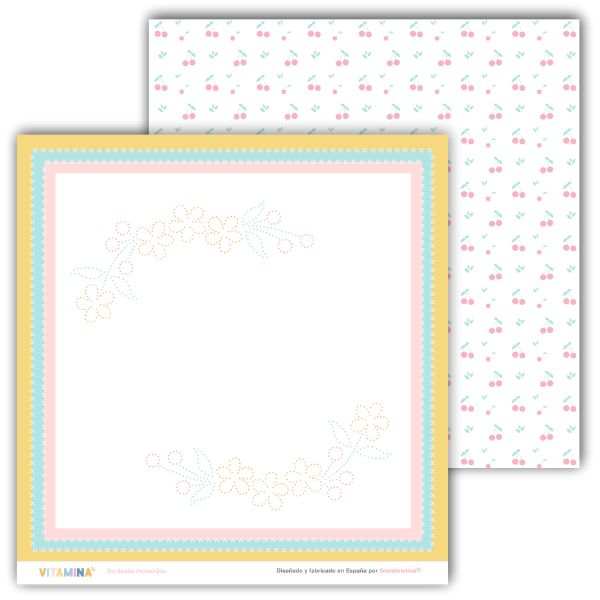 kit de papeles scrapbooking vitamina 7