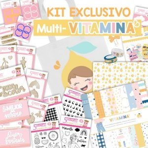 kit scrapbooking exclusivo multi vitamina