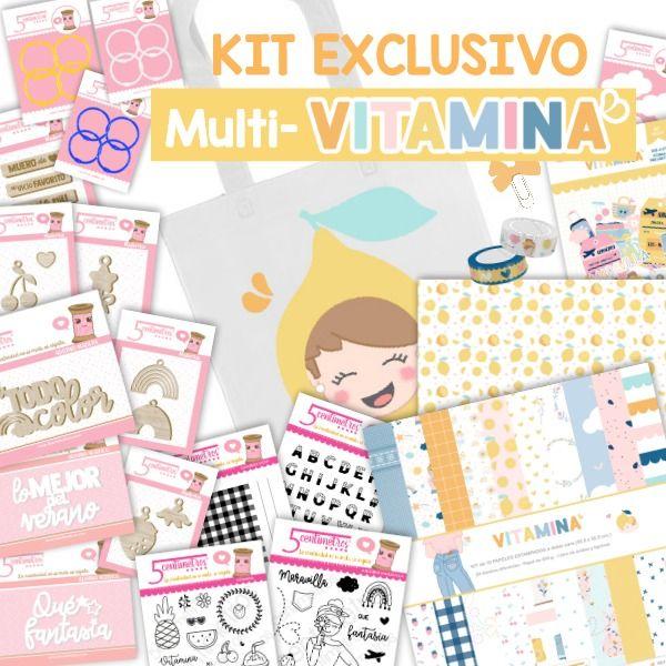 kit scrapbooking exclusivo multi vitamina