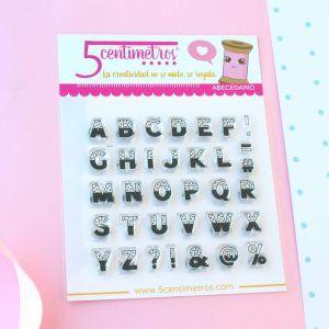 sellos acrílicos abecedario