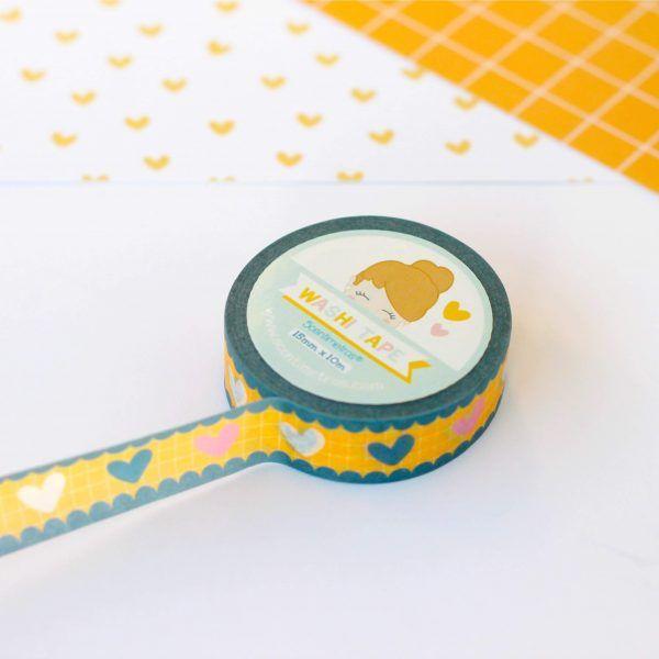 washi tape corazones 1
