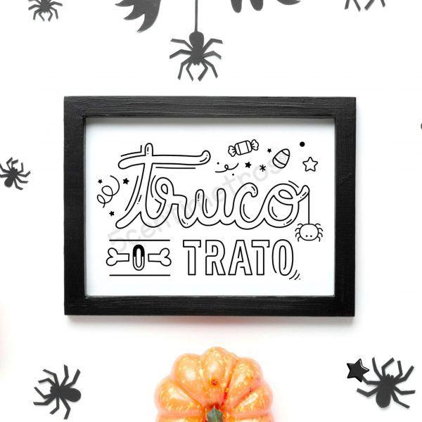 sello acrílico para imprimir truco o truco halloween