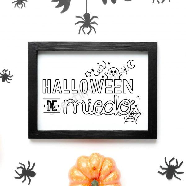 sello scrapbook digital para imprimir halloween