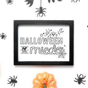 Sello scrapbook DIGITAL para imprimir HALLOWEEN