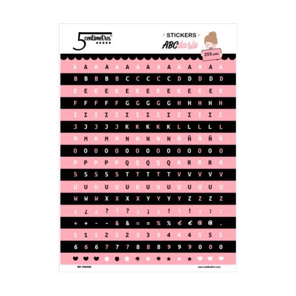 pegatinas abecedario